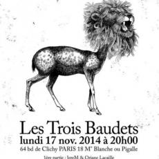 Lun 17.11.2014 • Courir Les Rues  • Sortie Manuel du faire semblant @ Les Trois Baudets