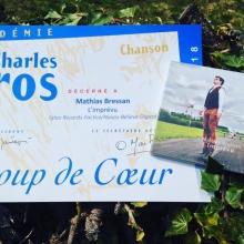 Mathias Bressan Coup de coeur chanson 2018 de l'Académie Charles Cros